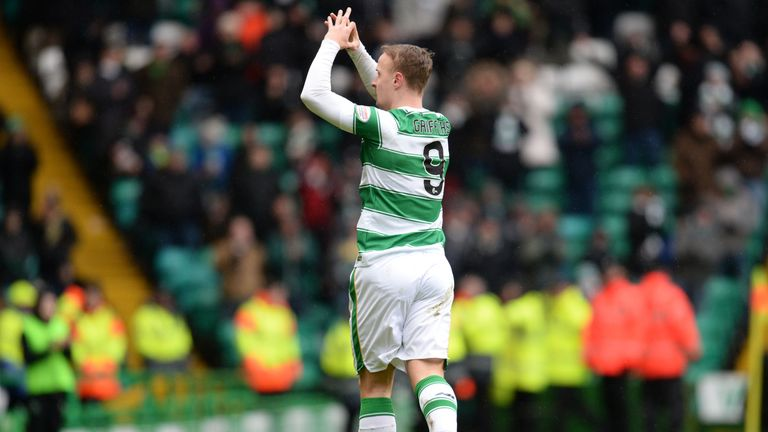 Celtic's Leigh Griffiths celebrates having opened the scoring