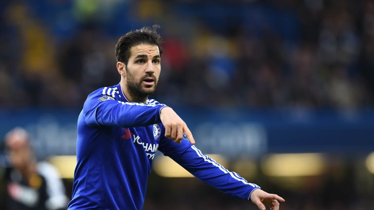 Cesc Fabregas has covered plenty of ground for Chelsea