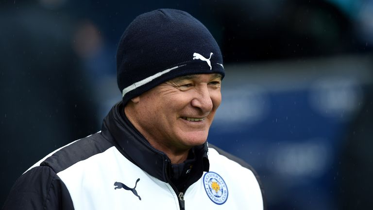 Claudio Ranieri Manager of Leicester City looks on