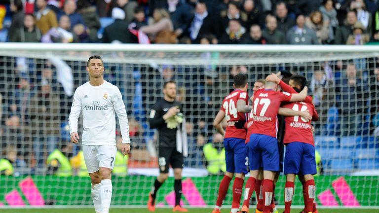 Cristiano Ronaldo of Real Madrid walks away