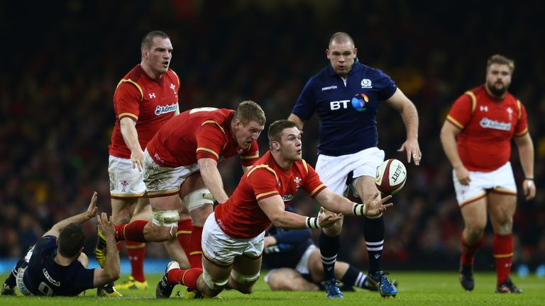 Dan Lydiate (middle) will captain Wales against Italy