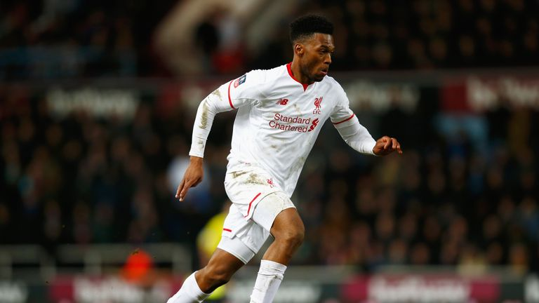 Daniel Sturridge of Liverpool in action during the Emirates FA Cup Fourth Round Replay match between West Ham United and Liverpool