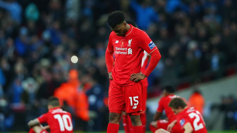 Daniel Sturridge did not take a spot-kick as Liverpool lost 3-1 on penalties to Manchester City