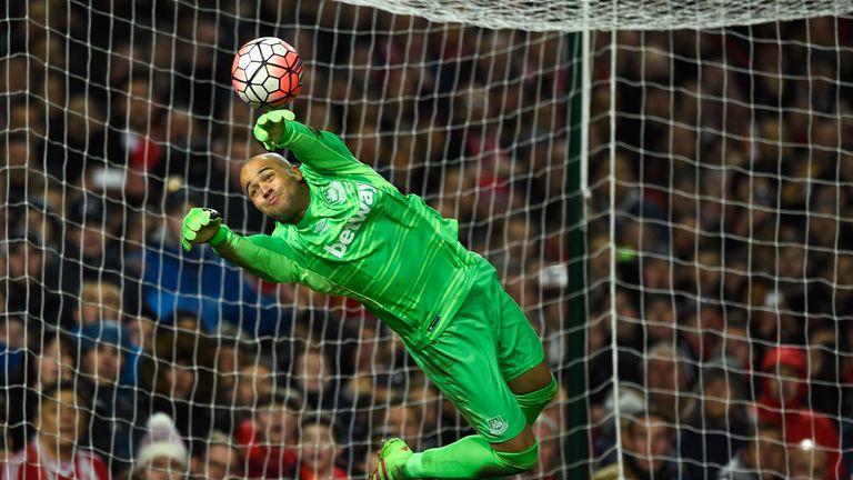 West Ham goalkeeper Darren Randolph makes a save