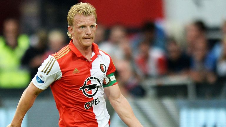 Dirk Kuyt scored in Feyenoord's draw with Roda JC