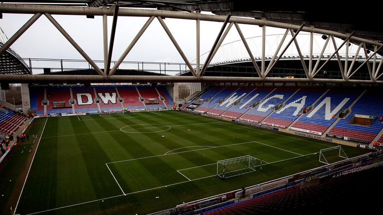 The DW Stadium will host two matches over the course of eight hours on Easter Monday