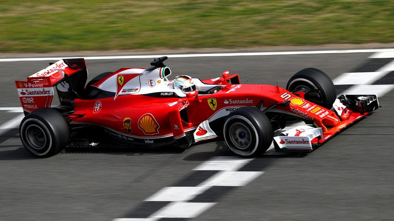 Vettel was half a second clear at the top of the timesheets