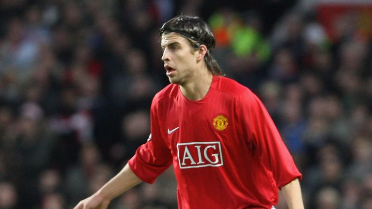 Pique pictured in 2008 during his Manchester United days