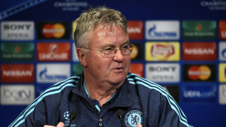 Interim manager Guus Hiddink is in charge until the end of the season at Chelsea