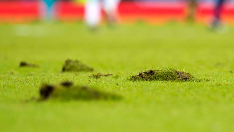 There have been numerous problems with the pitch at Hampden in the past