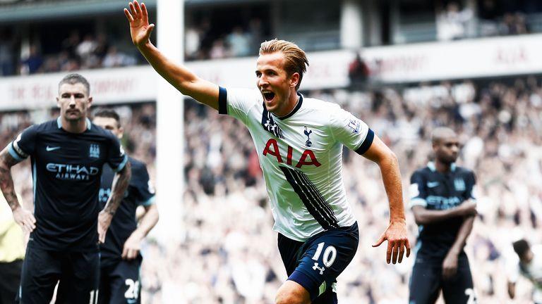 Harry Kane scored his first goal of the season as Tottenham beat Manchester City 4-1 at White Hart Lane