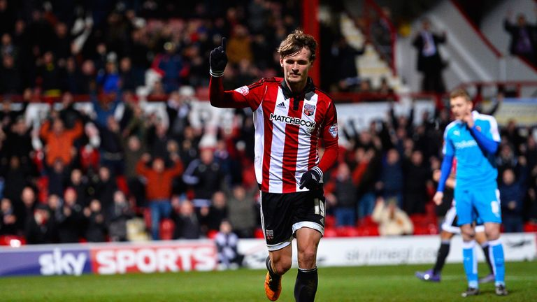 John Swift scored twice in Brentford's 3-0 win over Wolves on Tuesday