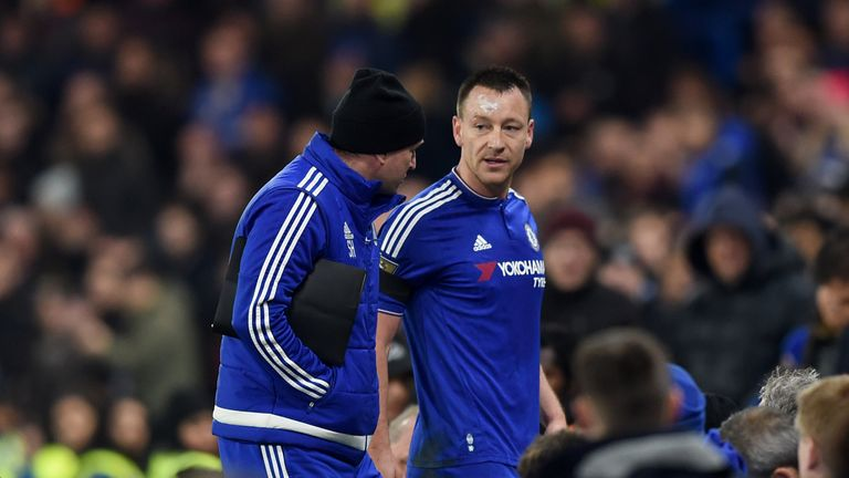 Terry had to be substituted during the first half at Stamford Bridge