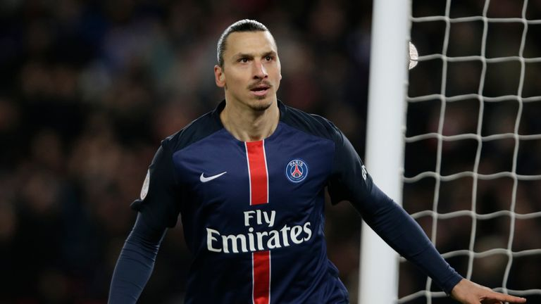 Zlatan Ibrahimovic is out of contract at PSG this summer