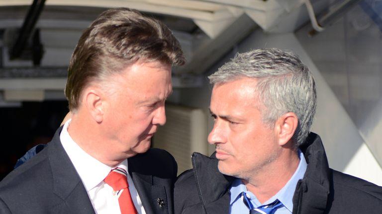 Louis van Gaal, Jose Mourinho, Chelsea v Manchester United, Premier League, 18 April 2015