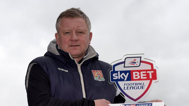 Sky Bet Manager of the Month for League Two Chris Wilder of Northampton Town