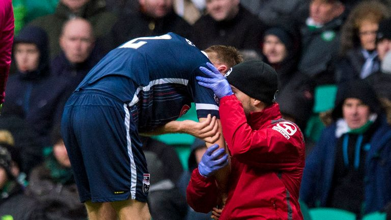 Fraser suffered a dislocated shoulder in the second half