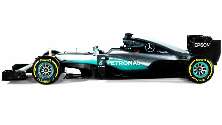 Mercedes released the first images of their W07 ahead of testing