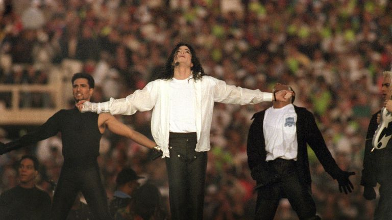 Michael Jackson kick-started the trend of big name acts performing at half-time in the Super Bowl