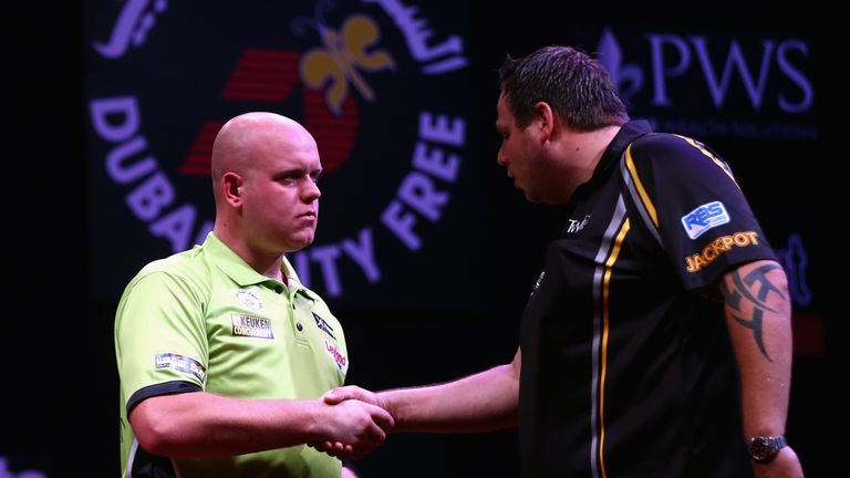 Lewis ended Michael van Gerwen's run of 27 straight victories in the competition's quarter-finals