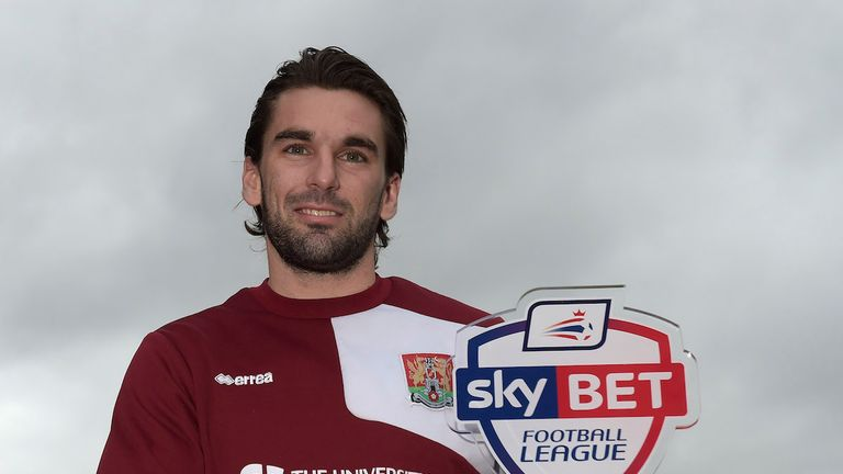Sky Bet Player of the Month for League Two, Ricky Holmes of Northampton.