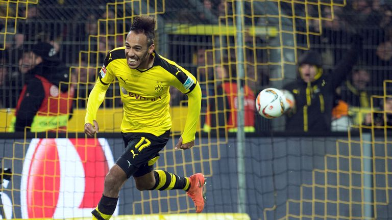 Pierre-Emerick Aubameyang scored his side's opening goal against Werder Bremen