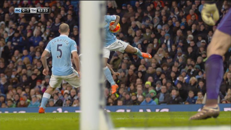 Another angle of the penalty incident
