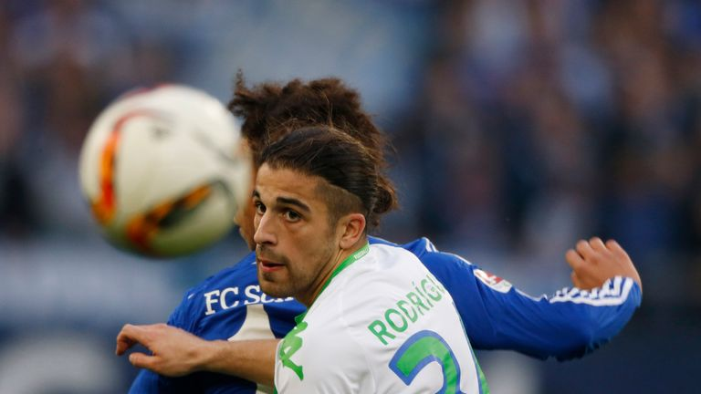 Wolfsburg's Swiss defender Ricardo Rodriguez has been heavily linked with a move to Manchester