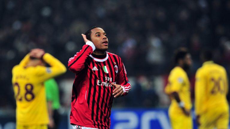 Former Man City forward Robinho did the damage for AC Milan