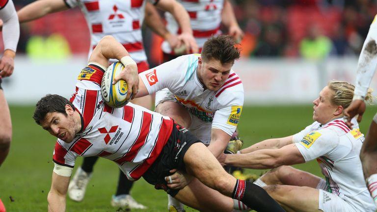 Gloucester fly-half James Hook scored a try against Harlequins