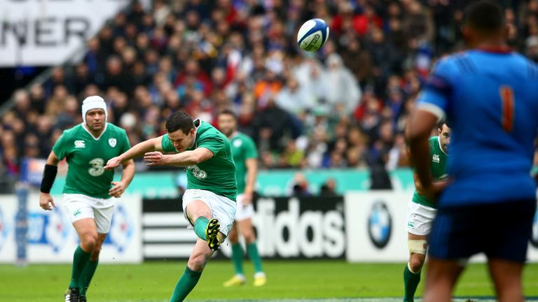 Ireland fly-half Jonathan Sexton kicked three penalties before departing injured