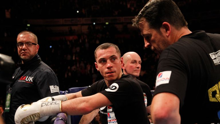 Scott Quigg is dejected after losing his world title