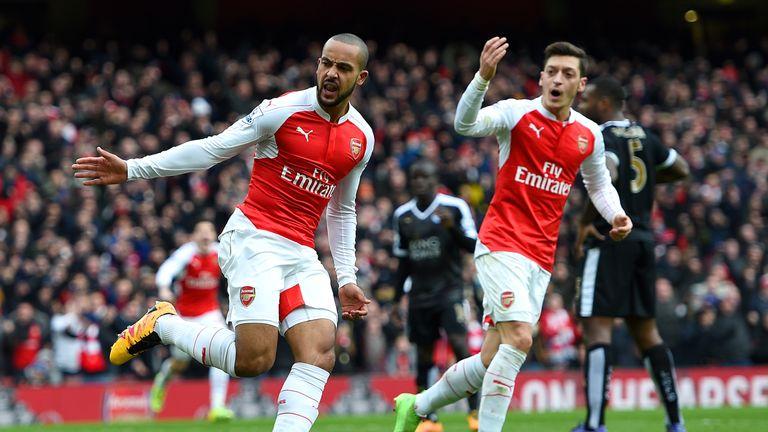 Theo Walcott, Arsenal v Leicester