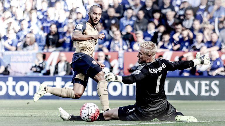 Walcott scored in the 5-2 win over Leicester in September 2015