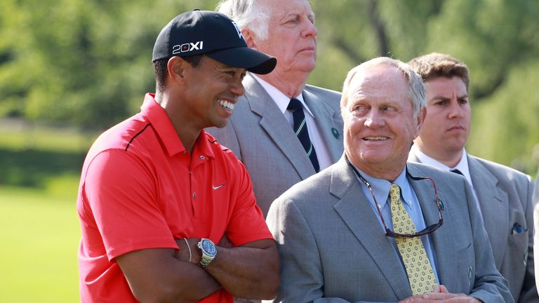 Woods and Jack Nicklaus both feature in the series