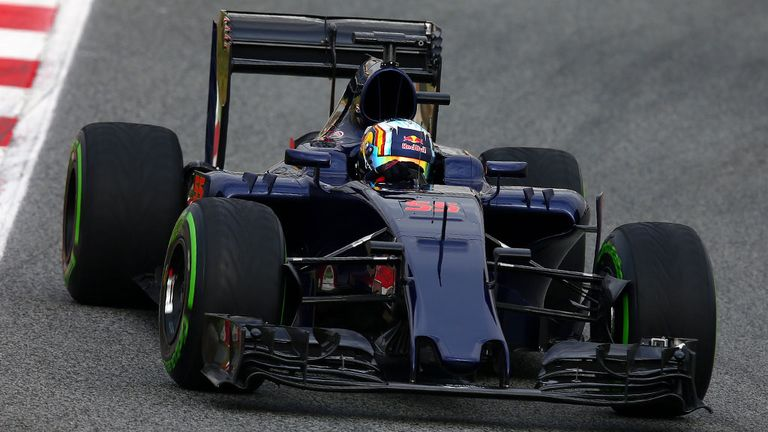 A moody look for Test One, but Toro Rosso's definitive 2016 livery will be revealed on Tuesday