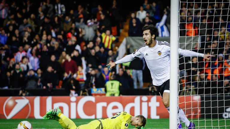 Andre Gomes scored nine goals for Valencia
