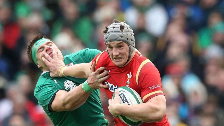 Jonathan Davies (right) is set to reach his half-century this weekend