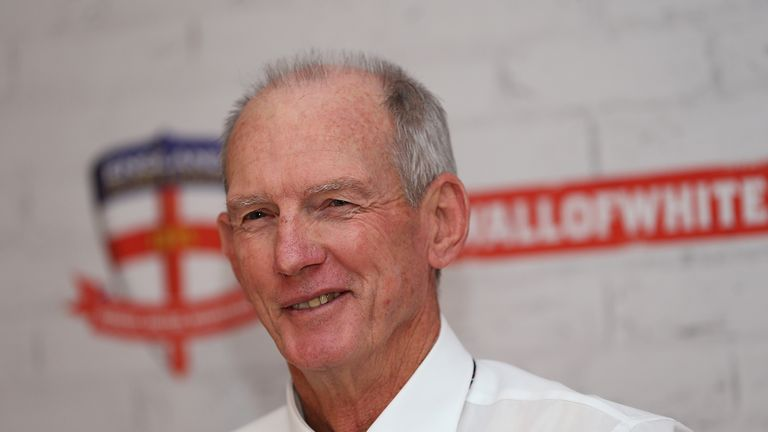 Wayne Bennett faces the media on Thursday