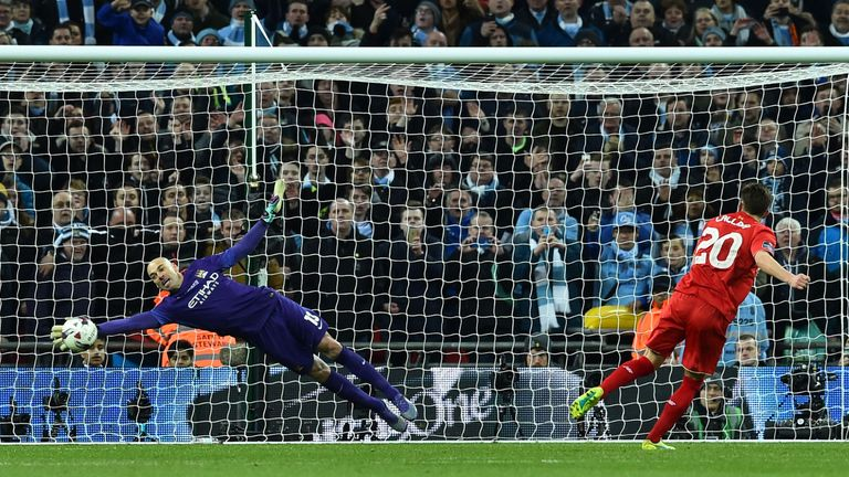 Caballero was the hero of Man City's Capital One Cup final win of 2016