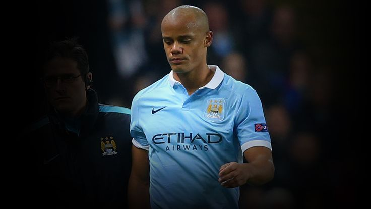 Vincent Kompany was forced off injured against Dynamo Kiev