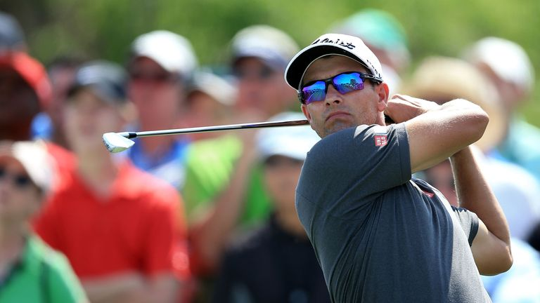 Adam Scott will be happy to make the cut after starting with a 76