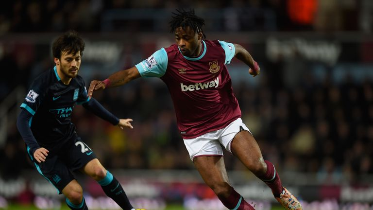Alex Song was on loan at West Ham from Barcelona from 2014-16