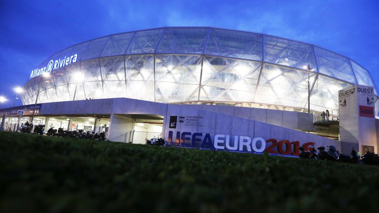 The Allianz Riviera stadium in Nice is one of the venues for Euro 2016