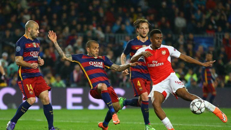 Alex Iwobi impressed for Arsenal at the Nou Camp