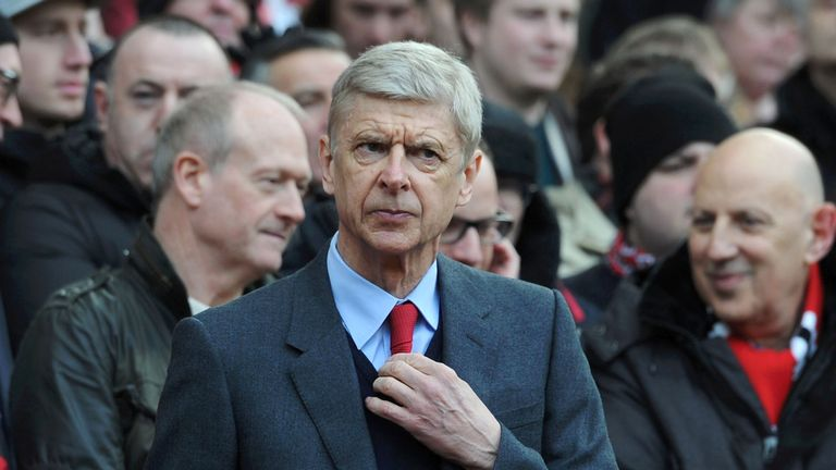 MANCHESTER, ENGLAND - FEBRUARY 28: Arsenal manager Arsene Wenger before the Barclays Premier League match