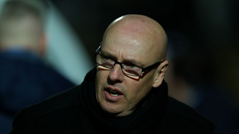 HIGH WYCOMBE, ENGLAND - MARCH 03:  Reading first team manager Brian McDermott looks on during the