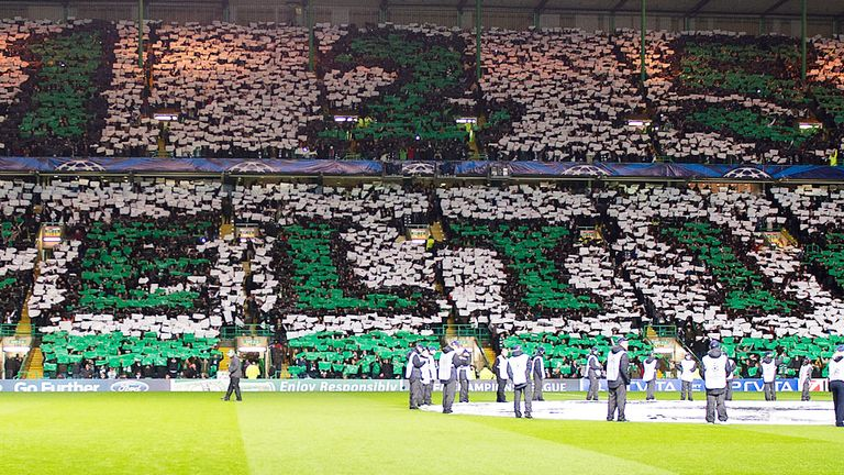 A Champions League night at Celtic Park