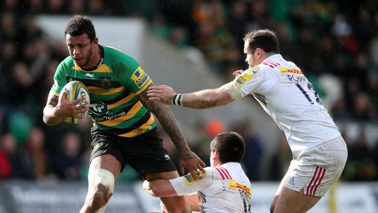 Courtney Lawes crossed the whitewash for Northampton in their bonus-point win over Harlequins