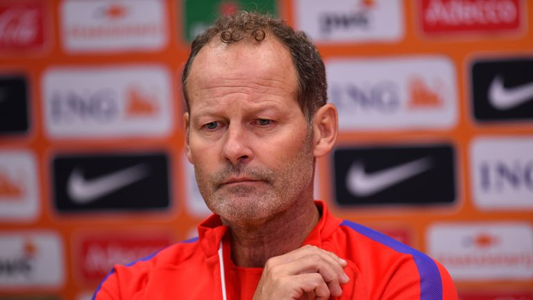 Netherlands head coach Danny Blind